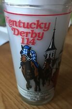 Official Kentucky Derby Glass 114th Running May 7, 1988 ~ Harry M Stevens Inc.