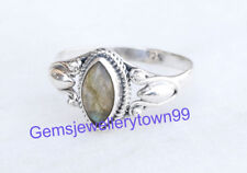 925 STERLING SILVER LABRADORITE RING STONE GEMSTONE RING ANY SIZE R2LB