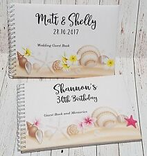 A5 Personalised Guest Book Tropical Design in Window Box + Optional Sign