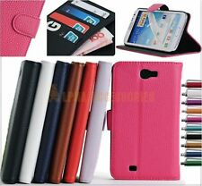 Folding Leather Wallet Stand Pu Leather Case Cover Samsung Galaxy Note II N7100