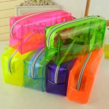 Transparent Pencil Case School Stationery Zipper Bag Pen Clear Mesh Box Pouch