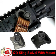 Airsoft QD Sling Swivel Adapter with Rail Base Mount Connecting Sling Ring GBB