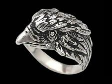 Sterling Silver Eagle Head Ring