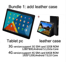 Android 7.0 Deca Core 10 inch Tablet PC 4GB 64GB ROM 8MP WIFI GPS 4G LTE 2.5D
