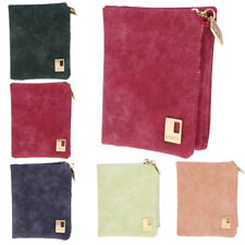 Womens Trifold Wallet Pu Leather Card Holder Clutch Cash Pouch Short Purse