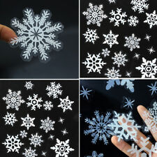 78 Elegant Snowflake Window Clings Reusable Stickers Xmas Decorations Decal