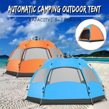 Family Camping Instant Pop Up Tent 5-8 Person Instant Outdoor Waterproof Tent