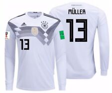 ADIDAS THOMAS MULLER GERMANY LONG SLEEVE HOME JERSEY WORLD CUP 2018 PATCHES