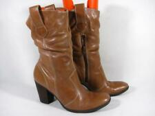Diba 80s Slouch Mid Calf Boot Women size 9 Tan Leather