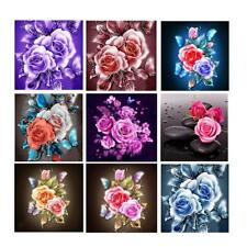Flower Rose DIY Diamond Painting Embroidery Cross Crafts Stitch Kit Home Decor