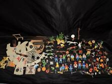 PLAYMOBIL Mixed Toy Lot Western Cowboy Indians Horses Pony Soldiers Vultures