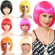 Amazing Cosplay Full Wig Synthetic Bob Cut Pink Golden Fancy Dress Party Wig Sr5