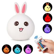 Silicone RGB Led Night Light USB Kids Romantic Table Tap Lamp for Baby Bedroom
