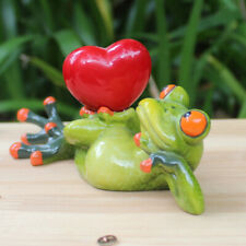 Cute Frogs Figurine Resin Home Sculpture Dolls Resin Crafts Animal Ornaments