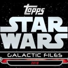 """2018 Topps Star Wars Galactic Files """"Update Series"""" Pick From List"""