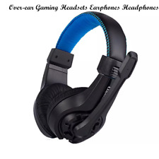 3.5mm Wired Over-ear Gaming Headsets Earphones Stereo Bass Headphones with Mic