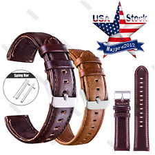 Quick Release Leather Watch Band Strap Bracelet For Samsung Galaxy Watch 42/46mm