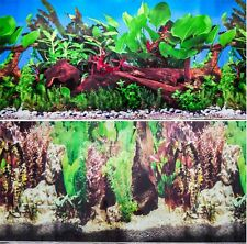 "Aquarium Fish Tank Background Double Sided 16"" / 40cm High - 2 to 10 FT Lengths"