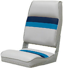 Wise Seating-Deluxe Pontoon Furniture, Seat, Light Gray/Navy/Blue