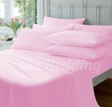 NEW PINK COMPLETE HOME BEDDING ITEM 800TC SOLID 100% COTTON CHOOSE SIZES & ITEM