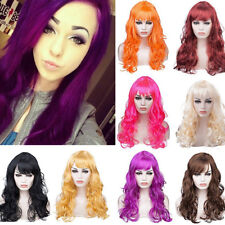 Colorful Cosplay Party Wig Fashion Women Ladies Fancy Dress Curly Wavy Wigs Dhn2