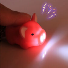 Creative Pig LED Keychain with Sound Key Holder Mini Torch Flashlight Kids Toy