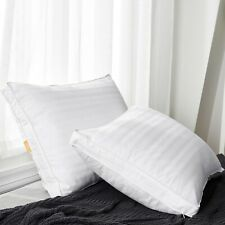 Puredown® 2 Pack Luxury Soft Goose Down Gusset Bed Pillows, with 2 Pillowcases