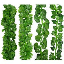 2M Long Artificial Plants Green Ivy Leaves Artificial Grape Vine Fake