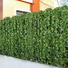 1x Artificial Ivy Leaf Hanging Fence Green Garden Privacy Screen Hedge Plants 3M