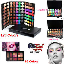 Full 40 120 Color EyeShadow Makeup Cosmetics Palette Shimmer Matte Eye Shadow US