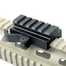 Tactical Compact QD Quick Release Mount Adapter fit Picatinny Weaver Rail Base