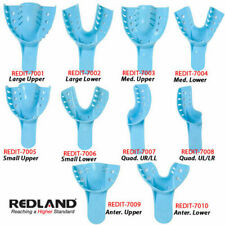 REDLAND Impression Trays #8 Quadrant UL/LR Perforated 12 Pcs/Bag -FDA