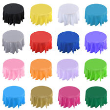 "84"" Round HeavyDuty Plastic Table Covers TABLECLOTH (Reusable)BUY 2 GET 1 FREE"