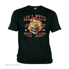 01 Hells Angels Fire Scull Costa Blanca Black T-Shirt Support81 Big Red