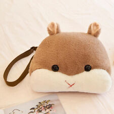 Soft Plush Toy Shoulder Bag Stuffed Animal Hamster Pillow with Hand Warm