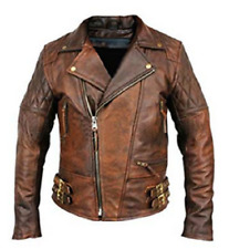 Mens Biker Biker Motorcycle Sheep Napa Real Leather / Artificial Leather Jacket