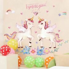 1 Pc Cute Unicorn Flamingo Wall Stickers for Kids Rooms Girls Bedroom Decor Post