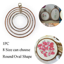 DIY Wooden Embroidery Hoop Ring Sewing Tools Cross Stitch Frame Needle Arts