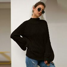 Jumper Sweater Tops Casual Long Sleeve Pullover Loose Knit Shirt Knitwear