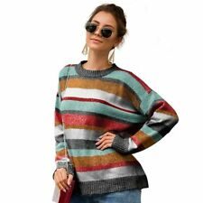 T-Shirt Casual Knit Shirt Tops Womens Jumper Loose Knitted Sweater Pullover