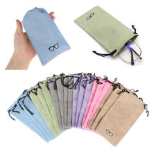 Fabric Sunglasses Bag Optical Glasses Case Eyeglasses Pouch Lanyard Cloth Bags