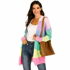 Jacket Womens Cardigan Coat Loose Long Sleeve Knitted Casual Sweater Outwear
