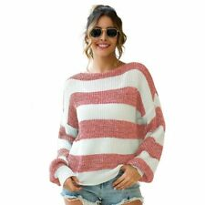 Casual T-Shirt Tops Pullover Jumper Knitwear Knit Shirt Womens Knitted Sweater