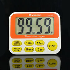 12 Hours Clock Loud Alarm Digital LCD Count-Down Up Kitchen Cooking Timer