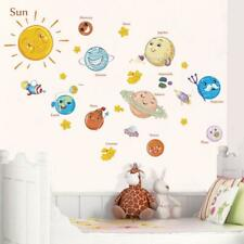 Solar System wall stickers decals for kids rooms Stars outer space planets