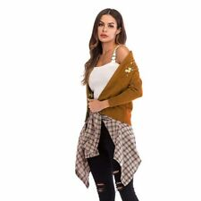 Sweater Long Sleeve Jacket Knitted Outwear Casual Coat Cardigan Womens Slim Fit