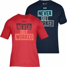 Under Armour Mens Charged Cotton Never Out Worked Short Sleeve Sports Top