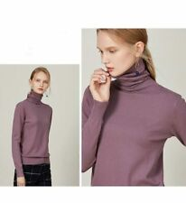 Tops Long Sleeve Casual Turtleneck sweater Fashion Pullover Solid T-shirt Blouse
