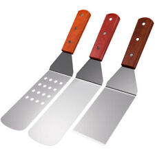 BBQ Turner Stainless Steel Spatula Set with Wood Grill and BBQ Set (3 Pieces) H2