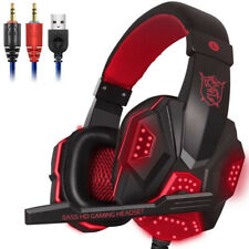 LED Lights PS4 PC Xbox one Stereo Surround Sound Noise Gaming Headset for